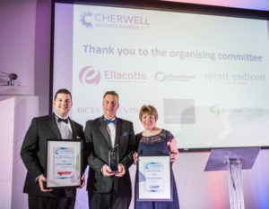 Edd Frost at the Cherwell Business Awards 2017